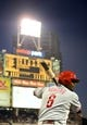June 25, 2013; San Diego, CA, USA; Philadelphia Phillies first baseman Ryan Howard (6) prior to his at bat during the fifth inning against the San Diego Padres at Petco Park. Mandatory Credit: Christopher Hanewinckel-USA TODAY Sports