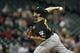 Jun 25, 2013; Seattle, WA, USA; Pittsburgh Pirates pitcher Bryan Morris (29) throws against the Seattle Mariners during the ninth inning at Safeco Field. Mandatory Credit: Joe Nicholson-USA TODAY Sports