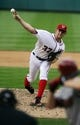 Jun 27, 2013; Washington, DC, USA; Washington Nationals starting pitcher Stephen Strasburg (37) throws during the third inning against the Arizona Diamondbacks at Nationals Park. Mandatory Credit: Brad Mills-USA TODAY Sports