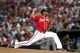 Jun 28, 2013; Atlanta, GA, USA; Atlanta Braves starting pitcher Julio Teheran (49) throws a pitch against the Arizona Diamondbacks in the fourth inning at Turner Field. Mandatory Credit: Brett Davis-USA TODAY Sports