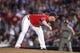 Jun 28, 2013; Atlanta, GA, USA; Atlanta Braves relief pitcher Craig Kimbrel (46) prepares to throw a pitch against the Arizona Diamondbacks in the ninth inning at Turner Field. The Braves defeated the Diamondbacks 3-0. Mandatory Credit: Brett Davis-USA TODAY Sports