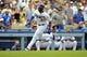 June 30, 2013; Los Angeles, CA, USA; Los Angeles Dodgers center fielder Matt Kemp (27) runs home to score a run in the eighth inning against the Philadelphia Phillies at Dodger Stadium. Mandatory Credit: Gary A. Vasquez-USA TODAY Sports