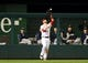 Jul 1, 2013; Washington, DC, USA; Washington Nationals outfielder Bryce Harper (34) catches a fly ball during the game against the Milwaukee Brewers at Nationals Park. Mandatory Credit: Evan Habeeb-USA TODAY Sports