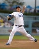Jun 29, 2013; Los Angeles, CA, USA; Los Angeles Dodgers starter Hyun-Jin Ryu (99) delivers a pitch against the Philadelphia Phillies at Dodger Stadium. Mandatory Credit: Kirby Lee-USA TODAY Sports
