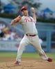 Jun 29, 2013; Los Angeles, CA, USA; Philadelphia Phillies starter Cliff Lee (33) delivers a pitch against the Los Angeles Dodgers at Dodger Stadium. Mandatory Credit: Kirby Lee-USA TODAY Sports