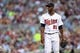 Jul 2, 2013; Minneapolis, MN, USA; Minnesota Twins starting pitcher Samuel Deduno (21) looks on during the fourth inning against the New York Yankees at Target Field. Mandatory Credit: Jesse Johnson-USA TODAY Sports