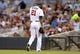 Jul 2, 2013; Minneapolis, MN, USA; Minnesota Twins starting pitcher Samuel Deduno (21) walks off the field at the end of the fifth inning against the New York Yankees at Target Field. Mandatory Credit: Jesse Johnson-USA TODAY Sports
