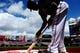 Jul 4, 2013; Washington, DC, USA; Washington Nationals shortstop Ian Desmond (20) prepares to bat during the game against the Milwaukee Brewers at Nationals Park. Mandatory Credit: Evan Habeeb-USA TODAY Sports