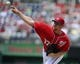 Jul 7, 2013; Washington, DC, USA; Washington Nationals starting pitcher Stephen Strasburg (37) throws during the first inning against the San Diego Padres at Nationals Park. Mandatory Credit: Brad Mills-USA TODAY Sports