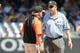 Jul 7, 2013; Bronx, NY, USA;  Baltimore Orioles manager Buck Showalter (26) argues a call with umpire Gary Darling (37) during the seventh inning against the New York Yankees at Yankee Stadium. Baltimore Orioles won 2-1.  Mandatory Credit: Anthony Gruppuso-USA TODAY Sports