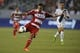 Jul 7, 2013; Carson, CA, USA; FC Dallas forward Blas P  rez (7) attempts a shot against the Los Angeles Galaxy during the first half at the StubHub Center. Mandatory Credit: Kelvin Kuo-USA TODAY Sports