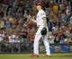 Jul 8, 2013; Philadelphia, PA, USA; Philadelphia Phillies relief pitcher Jonathan Papelbon (58) celebrates the final out against the Washington Nationals at Citizens Bank Park. The Phillies defeated the Nationals, 3-2. Mandatory Credit: Eric Hartline-USA TODAY Sports
