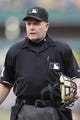 Jul 2, 2013; Pittsburgh, PA, USA; Home plate umpire Jerry Meals behind the plate as the Pittsburgh Pirates host the Philadelphia Phillies during the first inning at PNC Park. The Philadelphia Phillies won 3-1. Mandatory Credit: Charles LeClaire-USA TODAY Sports