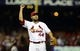 Jul 9, 2013; St. Louis, MO, USA; St. Louis Cardinals relief pitcher Edward Mujica (44) celebrates after defeating the Houston Astros at Busch Stadium. St. Louis defeated Houston 9-5. Mandatory Credit: Jeff Curry-USA TODAY Sports