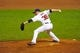Jul 8, 2013; Cleveland, OH, USA; Cleveland Indians relief pitcher Joe Smith (38) during a game against the Detroit Tigers at Progressive Field. Detroit won 4-2. Mandatory Credit: David Richard-USA TODAY Sports
