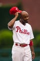 Jul 10, 2013; Philadelphia, PA, USA; Philadelphia Phillies shortstop Jimmy Rollins (11) prior to playing the Washington Nationals at Citizens Bank Park. The Nationals defeated the Phillies 5-1. Mandatory Credit: Howard Smith-USA TODAY Sports