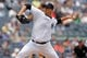 Jul 11, 2013; Bronx, NY, USA; New York Yankees starting pitcher Andy Pettitte (46) pitches against the Kansas City Royals during the fourth inning of a game at Yankee Stadium. Mandatory Credit: Brad Penner-USA TODAY Sports
