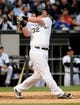 Jul 2, 2013; Chicago, IL, USA; Chicago White Sox first baseman Adam Dunn (32) during the game against the Baltimore Orioles at U.S. Cellular Field. Mandatory Credit: Reid Compton-USA TODAY Sports