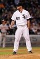 Jul 2, 2013; Chicago, IL, USA; Chicago White Sox starting pitcher John Danks (50) during the game against the Baltimore Orioles at U.S. Cellular Field. Mandatory Credit: Reid Compton-USA TODAY Sports