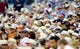 Jul 12, 2013; San Diego, CA, USA; San Diego Padres fans watch as the Padres play San Francisco Giants on fedora give away night at Petco Park. Mandatory Credit: Christopher Hanewinckel-USA TODAY Sports