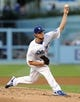Jul 12, 2013; Los Angeles, CA, USA;  Los Angeles Dodgers starting pitcher Clayton Kershaw (22) in the first inning of the game against the Colorado Rockies at Dodger Stadium. Mandatory Credit: Jayne Kamin-Oncea-USA TODAY Sports