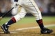 Jul 12, 2013; San Diego, CA, USA; Detail view of socks worn by San Diego Padres center fielder Alexi Amarista (5) on PCL Padres night against the San Francisco Giants at Petco Park. Mandatory Credit: Christopher Hanewinckel-USA TODAY Sports
