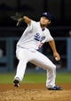 Jul 12, 2013; Los Angeles, CA, USA;  Los Angeles Dodgers starting pitcher Clayton Kershaw (22) during the game against the Colorado Rockies at Dodger Stadium.Mandatory Credit: Jayne Kamin-Oncea-USA TODAY Sports