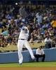 Jul 12, 2013; Los Angeles, CA, USA;  Los Angeles Dodgers shortstop Hanley Ramirez (13) makes a play during the game against the Colorado Rockies at Dodger Stadium. Rockies won 3-0. Mandatory Credit: Jayne Kamin-Oncea-USA TODAY Sports
