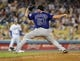Jul 12, 2013; Los Angeles, CA, USA;  Colorado Rockies relief pitcher Rafael Betancourt (63) in the ninth inning of the game against the Los Angeles Dodgers at Dodger Stadium. Rockies won 3-0. Mandatory Credit: Jayne Kamin-Oncea-USA TODAY Sports