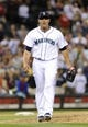 Jul 13, 2013; Seattle, WA, USA; Seattle Mariners relief pitcher Yoervis Medina (31) during the 9th inning against the Los Angeles Angels at Safeco Field. Seattle defeated Los Angeles 6-0. Mandatory Credit: Steven Bisig-USA TODAY Sports