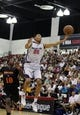 Jul 14, 2013; Las Vegas, NV, USA; Washington Wizards forward Otto Porter (22) catches a pass as New York Nicks forward Tony Mitchell defends during the fourth quarter of an NBA Summer League game at Cox Pavillion. Mandatory Credit: Stephen R. Sylvanie-USA TODAY Sports