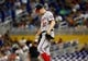 Jul 12, 2013; Miami, FL, USA; Washington Nationals starting pitcher Stephen Strasburg (37) reacts after giving up a bases load triple against the Miami Marlins at Marlins Park.  Mandatory Credit: Robert Mayer-USA TODAY Sports