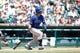 July 14, 2013; Detroit, MI, USA; Texas Rangers center fielder Leonys Martin (2) at bat against the Detroit Tigers at Comerica Park. Mandatory Credit: Rick Osentoski-USA TODAY Sports