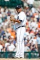 July 14, 2013; Detroit, MI, USA; Detroit Tigers relief pitcher Joaquin Benoit (53) during the game against the Texas Rangers at Comerica Park. Mandatory Credit: Rick Osentoski-USA TODAY Sports