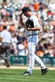 July 14, 2013; Detroit, MI, USA; Detroit Tigers starting pitcher Justin Verlander (35) during the game against the Texas Rangers at Comerica Park. Mandatory Credit: Rick Osentoski-USA TODAY Sports