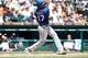 July 14, 2013; Detroit, MI, USA; Texas Rangers right fielder Nelson Cruz (17) at bat against the Detroit Tigers at Comerica Park. Mandatory Credit: Rick Osentoski-USA TODAY Sports