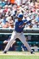 July 14, 2013; Detroit, MI, USA; Texas Rangers designated hitter Jurickson Profar (13) at bat against the Detroit Tigers at Comerica Park. Mandatory Credit: Rick Osentoski-USA TODAY Sports