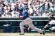 July 14, 2013; Detroit, MI, USA; Texas Rangers third baseman Adrian Beltre (29) at bat against the Detroit Tigers at Comerica Park. Mandatory Credit: Rick Osentoski-USA TODAY Sports
