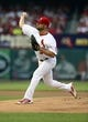 Jul 19, 2013; St. Louis, MO, USA; St. Louis Cardinals starting pitcher Jake Westbrook (35) throws to a San Diego Padres batter during the first inning at Busch Stadium. Mandatory Credit: Jeff Curry-USA TODAY Sports