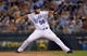 Jul 20, 2013; Kansas City, MO, USA; Kansas City Royals relief pitcher Greg Holland (56) delivers a pitch in the ninth inning of the game against the Detroit Tigers at Kauffman Stadium. The Royals won 6-5. Mandatory Credit: Denny Medley-USA TODAY Sports