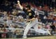 Jul 22, 2013; Washington, DC, USA; Pittsburgh Pirates relief pitcher Jason Grilli throws during the ninth inning against the Washington Nationals at Nationals Park. Mandatory Credit: Brad Mills-USA TODAY Sports