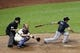 Jul 22, 2013; New York, NY, USA;  Atlanta Braves second baseman Dan Uggla (26) grounds into fielders choice to third during the ninth inning against the New York Mets at Citi Field.  Atlanta Braves won 2-1.  Credit: Anthony Gruppuso-USA TODAY Sports