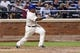 Jul 23, 2013; New York, NY, USA;  New York Mets right fielder Marlon Byrd (6) grouns into fielder's choice to third during the sixth inning against the Atlanta Braves at Citi Field.  Mandatory Credit: Anthony Gruppuso-USA TODAY Sports