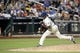 Jul 23, 2013; New York, NY, USA;  New York Mets relief pitcher LaTroy Hawkins (32) delivers a pitch during the eighth inning against the Atlanta Braves at Citi Field.  Mandatory Credit: Anthony Gruppuso-USA TODAY Sports