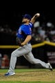 Jul 23, 2013; Phoenix, AZ, USA; Chicago Cubs relief pitcher Michael Bowden (28) throws during the seventh inning against the Arizona Diamondbacks at Chase Field. Mandatory Credit: Matt Kartozian-USA TODAY Sports