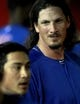 Jul 24, 2013; Phoenix, AZ, USA; Chicago Cubs starting pitcher Jeff Samardzija (29) talks to second baseman Darwin Barney (15) after Barney committed an error allowing two runs against the Arizona Diamondbacks in the fifth inning during a baseball game at Chase Field. Mandatory Credit: Rick Scuteri-USA TODAY Sports
