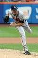 Jul 25, 2013; New York, NY, USA;  Atlanta Braves starting pitcher Alex Wood (58) pitches during the first inning against the New York Mets at Citi Field. Mandatory Credit: Anthony Gruppuso-USA TODAY Sports
