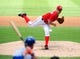 Jul 26, 2013; Washington, DC, USA; Washington Nationals pitcher Jordan Zimmermann (27) throws a pitch in the second inning against the New York Mets at Nationals Park. Mandatory Credit: Evan Habeeb-USA TODAY Sports