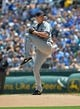 July 21, 2013; Kansas City, MO, USA; Detroit Tigers pitcher Doug Fister (58) delivers a pitch against the Kansas City Royals during the first inning at Kauffman Stadium.  Mandatory Credit: Peter G. Aiken-USA TODAY Sports