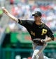 Jul 25, 2013; Washington, DC, USA; Pittsburgh Pirates starting pitcher A.J. Burnett (34) throws during the second inning against the Washington Nationals at Nationals Park. Mandatory Credit: Brad Mills-USA TODAY Sports